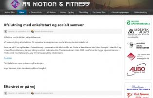 AG Motion Cykling - cykelklub Aulum